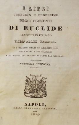 I libri undecimo, e duodecimo degli elementi di Euclide. 1829