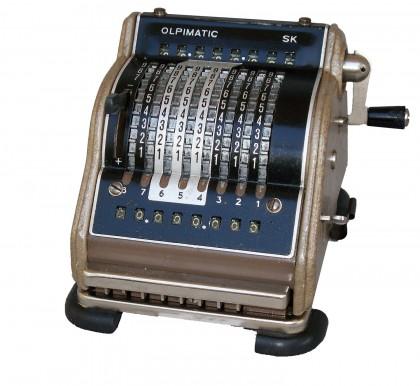 """Calcolatrice meccanica """"Resulta Olpimatic SK"""" 1952-1955"""