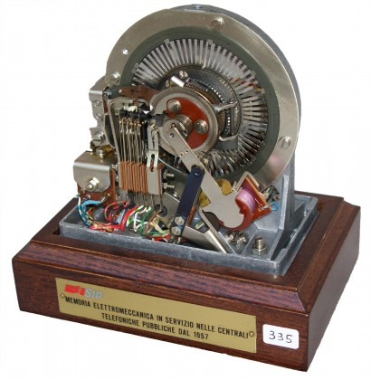Memoria elettromeccanica telefonica SIP 1957