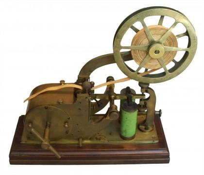 """Macchina telegrafica a punta secca di """"O. Shaeffler""""  Vienna, 1859-1860"""