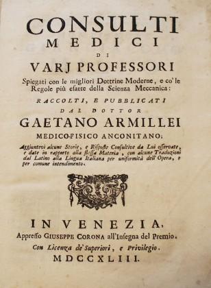 Consulti medici di vari professori di Gaetano Armillei