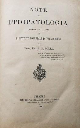 Note di Fitopatologia di R. F. Solla. 1888