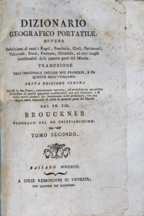 Dizionario Geografico Portatile di Brouckner
