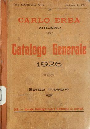 Catalogo prodotti chimico-farmaceutici Carlo Erba. Milano 1926