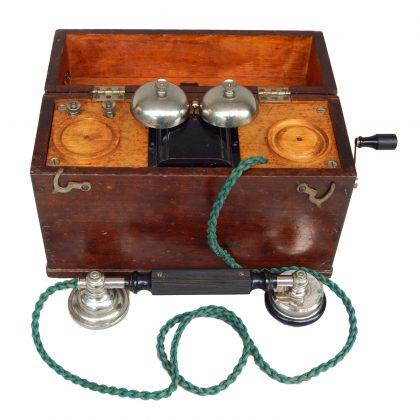 Telefono da campo militare russo riservato agli ufficiali; 1/4 XX secolo